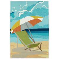 Kaleen Sea Isle Nautical 3-Foot x 5-Foot Indoor/Outdoor Accent Rug in Multicolor