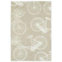 Kaleen Sea Isle Bicycle 3-Foot x 5-Foot Indoor/Outdoor Accent Rug in Brown