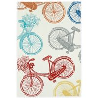 Kaleen Sea Isle Bicycle 7-Foot 6-Inch x 9-Foot Indoor/Outdoor Area Rug in Multicolor