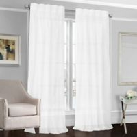Designers' Select™ Peyton 84-Inch Back Tab Window Curtain Panel in White