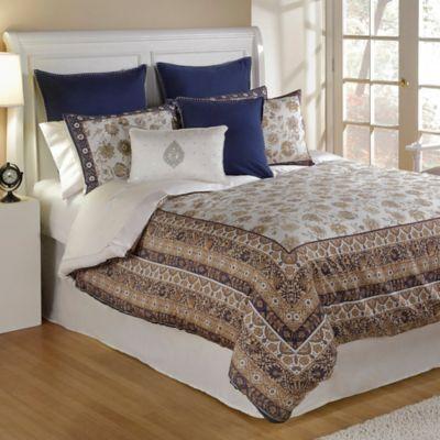 bed inc isabelle queen comforter set in bluewhite
