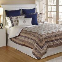 Bed Inc. Isabelle King Comforter Set in Blue/White