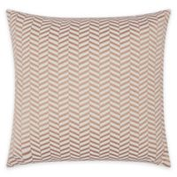 Mina Victory Luminescence Chevron Square Throw Pillow in Rose Gold
