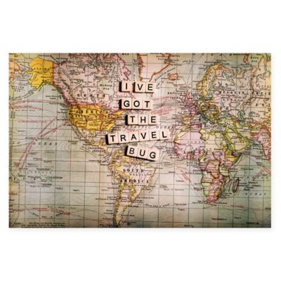 Buy world travels wall map from bed bath beyond marmont hill ive got the travel bug 18 inch x 12 gumiabroncs Image collections