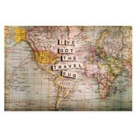 "Marmont Hill ""I've Got The Travel Bug"" 18-Inch x 12-Inch Canvas Wall Art"