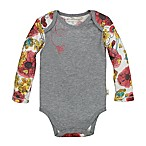 Burt's Bees Baby® Size 3-6M Floral Organic Cotton Long Sleeve Bodysuit in Grey