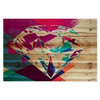 Marmont Hill 45-Inch x 30-Inch Diamond in the Rough Pine Wood Wall Art