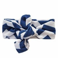 Itzy Ritzy® City Chevron Stripe Top Knot Headband in Navy