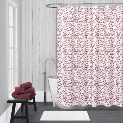 red shower curtains bathroom from bed bath beyond