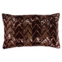 Bed Inc. Jade Sequin Boudoir Throw Pillow in Brown