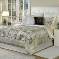 Bed Inc. Quinn King Comforter Set in Beige/White