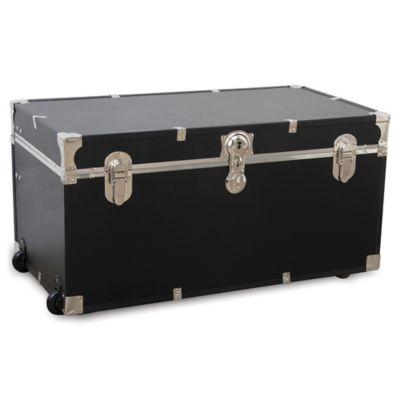 Elegant Mercury Luggage 31 Inch Oversized Storage Trunk In Black