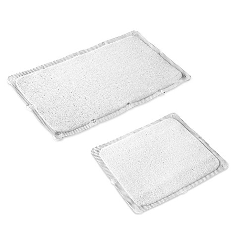 Bath Carpet Ultra Bath Mat With Anti Slip Backing In Clear
