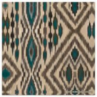 Thirstystone Dolomite Individual Coaster in Chocolate and Aqua Ikat