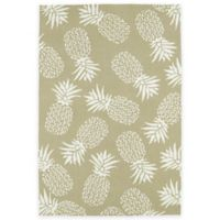 Kaleen Sea Isle Pineapples 7-Foot 6-Inch x 9-Foot Indoor/Outdoor Area Rug in Brown