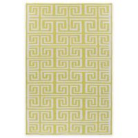 Surya Junipero 2-Foot x 3-Foot Recycled PET Indoor/Outdoor Accent Rug in Lime/Ivory