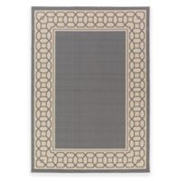 Surya Keene 3-Foot 11-inch x 5-Foot 3-Inch Indoor/Outdoor Accent Rug in Grey