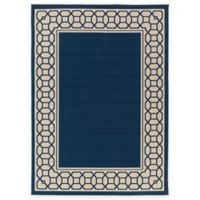 Surya Keene 7-Foot 10-Inch Round Indoor/Outdoor Area Rug in Navy