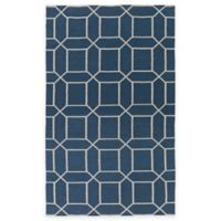 Surya Kingston Peak 2-Foot x 3-Foot Indoor/Outdoor Accent Rug in Navy