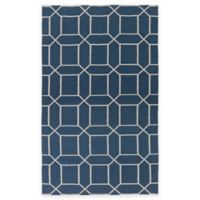 Surya Kingston Peak 5-Foot x 8-Foot Indoor/Outdoor Area Rug in Navy