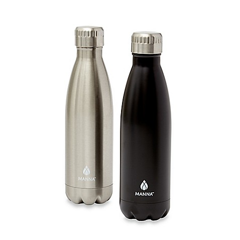 Manna Vogue 174 2 Pack 17 Oz Stainless Steel Vacuum Insulated Water Bottles Bed Bath Amp Beyond