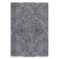 Supreme 5-Foot 3-Inch x 7-Foot 5-Inch Shag Area Rug in Light Grey