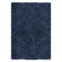 Supreme 5-Foot 3-Inch x 7-Foot 5-Inch Shag Area Rug in Navy