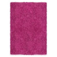 Supreme 5-Foot 3-Inch x 7-Foot 5-Inch Shag Area Rug in Coral