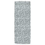 "Carpet Art Deco Soho 1'10"" x 5' Shag Runner Rug in Grey/Blue"