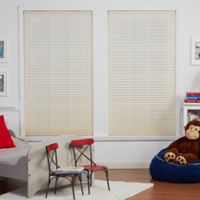 Baby Blinds Cordless Pleat 58-1/2-Inch x 64-Inch Shade in Soft Tan