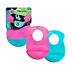 Tommee Tippee® Easi-Roll 2-Pack Bibs in Pink/Blue