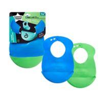 Tommee Tippee® Easi-Roll 2-Pack Bibs in Blue/Green