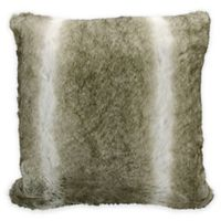 Kathy Ireland Home® by Gorham Faux Wolf Square Throw Pillow in Silver/Grey