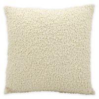 Mina Victory Velvet Sponge Square Throw Pillow in Ivory