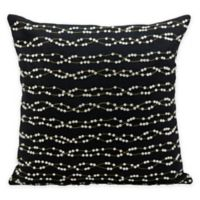Mina Victory Luminescence Wavy Rhinestones Throw Square Pillow in Black/Silver