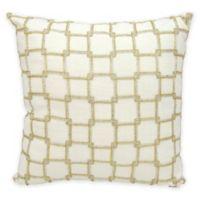 Mina Victory Luminescence Interlock Square Decorative Pillow in White