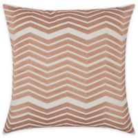Mina Victory Luminescence Thick Chevron 20-Inch Square Throw Pillow in Rose Gold