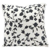 Mina Victory Floral 20-Inch Throw Pillow in Black/White