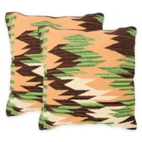 Safavieh Canyon Throw Pillow in Forest Neutral (Set of 2)