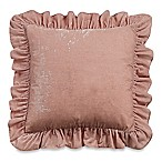 Wamsutta® Vintage Washed Velvet Square Throw Pillow in Blush