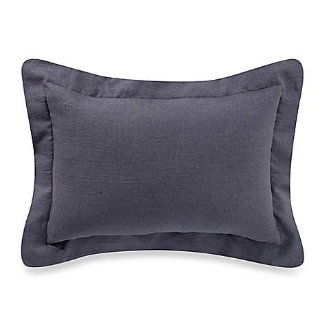 Buy Bellora Basil 12-Inch x 18-Inch Oblong Throw Pillow in Charcoal from Bed Bath & Beyond