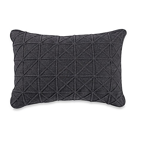 Grey Knit Throw Pillow : Kyle Schuneman Hayes Knitted Oblong Throw Pillow in Grey - Bed Bath & Beyond
