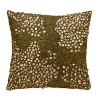 Mina Victory Fully Beaded 20-Inch Square Throw Pillow in Amber