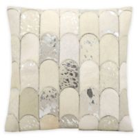 Kathy Ireland Home® by Gorham Lady Fingers Square Throw Pillow in White