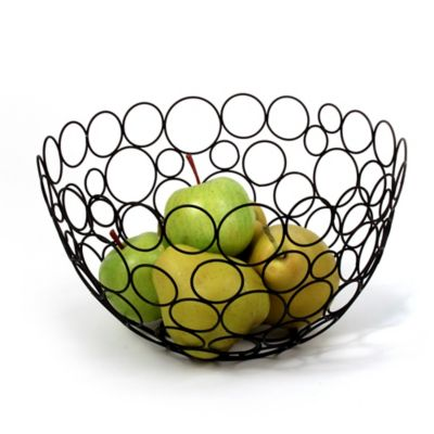 Spectrum Circle Shapes™ Black Fruit Bowl
