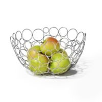 Spectrum Circle Shapes™ Chrome Fruit Bowl