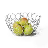 Spectrum Circle Shapes™ Chrome Fruit Bowl