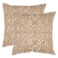 Safavieh Techie 20-Inch Throw Pillow in Earth (Set of 2)