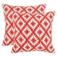 Safavieh Navajo Diamond Throw Pillows in Red (Set of 2)