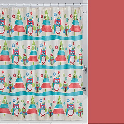 Holiday Owls Shower Curtain Bed Bath Beyond